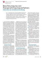Beschleunigung von Plangenehmigungsverfahren - bulletin