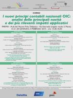 feb. 2015 | Corso I NUOVI PRINCIPI CONTABILI NAZIONALI OIC