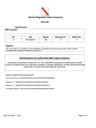 04/12/2014 Liquidazione acconto C.M.