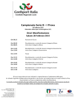 Ordine di Gara - Confsport Lazio