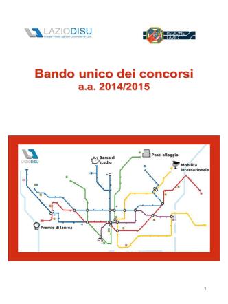 BANDO 2014-15 VERSIONE TESTO AL 24-07-14