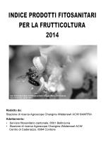 Indice dei prodotti fitosanitari per la frutticoltura