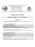 C.U. N. 17... - FIGC Ravenna