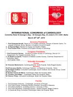 INTERNATIONAL CONGRESS of CARDIOLOGY, Malta 26-28