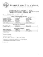 Calendario delle sedute per BTF, CTF e Farmacia (versione in pdf)