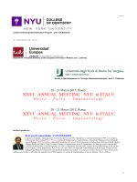 XXVI ANNUAL MEETING NYU in ITALY