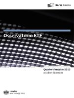 Osservatorio ETF - Borsa Italiana