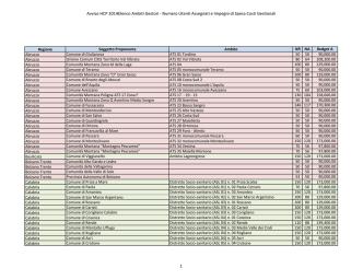 Avviso HCP 2014Elenco Ambiti Gestori - Numero Utenti