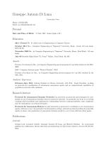 Giuseppe Antonio Di Luna: Curriculum Vitae