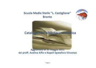 Catalogo Online - L. Castiglione