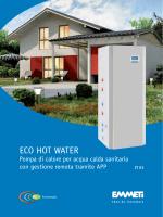 La pompa di calore Eco Hot Water