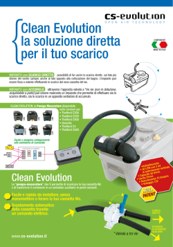 Pompa maceratore wc per camper CS EVOLUTION