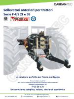 Sollevatori anteriori per trattori Serie F-US 2t e 3t La