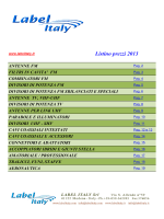 Lista Prodotti 2013