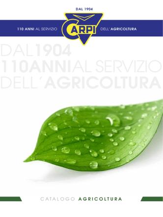 Catalogo Agricoltura