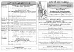 Avvisi Parrocchiali - Unità Pastorale Breganze Maragnole