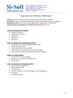 """Argomenti Corso SAP Online """"ABAP/4 Base"""" - Si"""