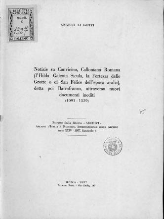 a Notizie su Convicino, Calloniana Romana