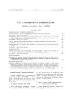 VIII Ambiente, territorio e lavori pubblici