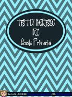TEST DI INGRESSO IRC Scuola Primaria - idr4U