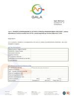 Spett. GALA S.p.A. Via Savoia 43 - 47 00198 Roma