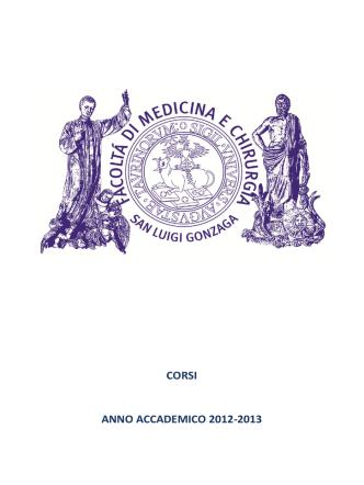 Brochure dei corsi  - Laurea magistrale in Medicina e Chirurgia