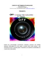 """""""OFF"""" Offanengo Film Festival 2014 IV° edizione"""
