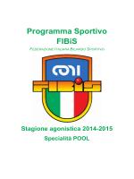 programma sportivo 2014 2015 - Federazione Italiana Biliardo