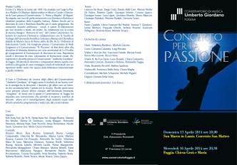 Concerto per la Passione - Conservatorio Umberto Giordano