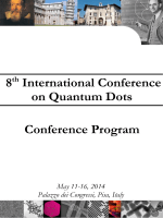 8th International Conference on Quantum Dots