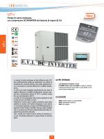 E.V.I. Pompe di calore aria/acqua con compressore DC INVERTER