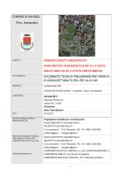 Documento Tecnico preliminare