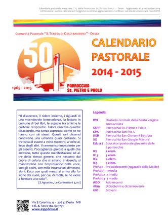 CALENDARIO SSPP 2014-15 - Parrocchia Ss. Pietro e Paolo