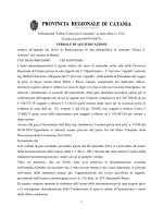 Aggiudicazione - Provincia Regionale di Catania