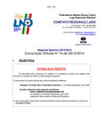 Com. Uff. LND ECC-PRO-JUR 29.10.2014