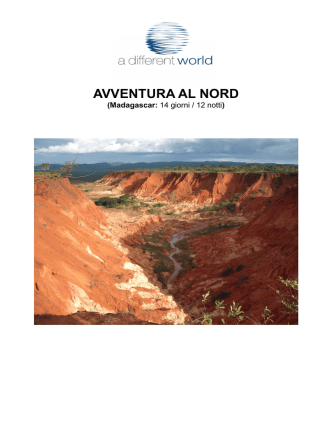 AVVENTURA AL NORD day by day