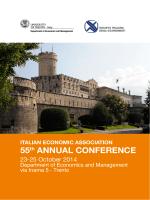 ITALIAN ECONOMIC ASSOCIATION 55th ANNUAL CONFERENCE