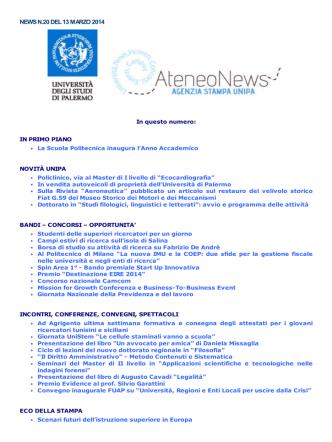 23. ateneonews n. 20 - Università di Palermo