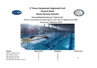 3° Prova Campionato Regionale Friuli Venezia Giulia