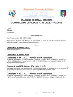 Il comunicato LND