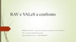 RAV e VALeS a confronto - Ufficio Scolastico Regionale Piemonte