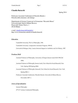 CB Spring 2014 Complete - Dipartimento di Scienze Umane per la
