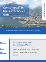"""Corso """"base"""" di Implantologia e GBR"""