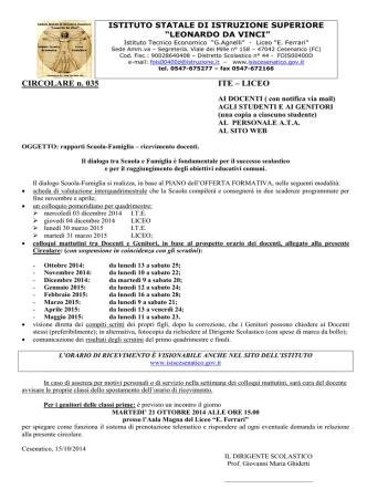 035 Ricevimento 2014 - 2015.