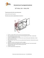 Istruzioni per la programmazione BFT Mitto 2M – Mitto 4M
