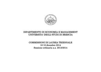 Commissioni lauree triennali dicembre 2014