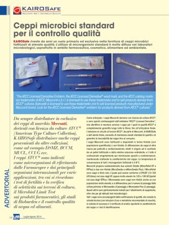 Ceppi microbici standard per il controllo qualità