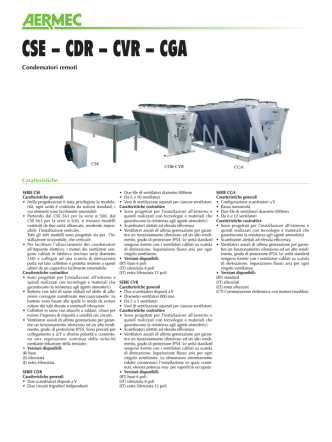 CSE - CDR - CVR - CGA - Fontana Frigoriferi