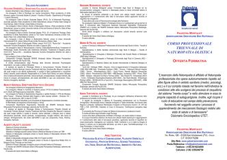 corso professionale triennale di naturopatia olistica