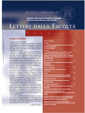 3. Lettere della Facoltà maggio-giugno 2014